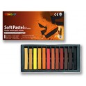 PASTELS SECS CARRES SANGUINES - ETUI DE 12 COULEURS ASSORTIS