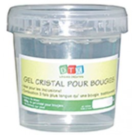 GEL INCOLORE P/BOUGIES 800G + 8 MÈCHES