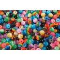 PERLES RONDES 16MM POT DE 100GR COULEURS ASSORTIES