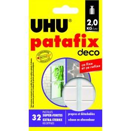 PATAFIX BLANC SUPER FORTE DECO 32 PASTILLES REPOSITIONNABLES