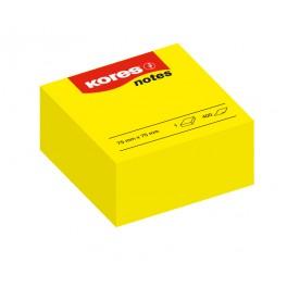 BLOC CUBE NOTES JAUNE 400 FS 75X75MM