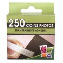 COINS PHOTOS TRANSPARENTS ADHESIFS 10MM - BOITE DE 250