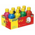GOUACHE be-bè - Lot 8 x 250ml assorties blanc, jaune primaire, rouge,