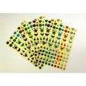 GOMMETTES HOLOGRAMMES 10 PLANCHES - 1150 GOMM.) MOTIFS ASSORTIS NOEL