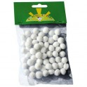 POMPONS BLANCS 15MM LOT DE 45