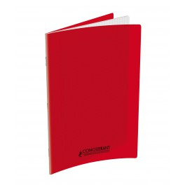 CAHIER 24X32 96P POLYPRO ROUGE 90G SEYES