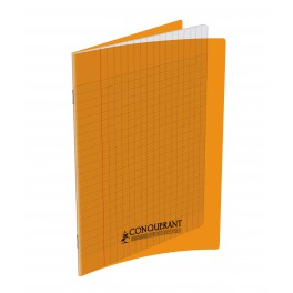CAHIER 17X22 48P POLYPRO ORANGE 90G SEYES