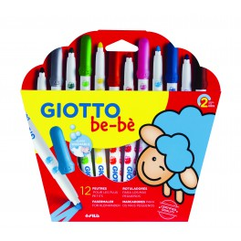 GIOTTO BE-BÈ POCHETTE 12 FEUTRES ASSORTIS