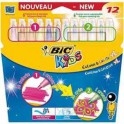 FEUTRES MAGIQUES BIC KIDS COLOUR & CREATE Pointe large XL Pochette de 12 assortis