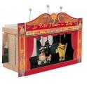 LE PETIT THEATRE EN BOIS (2décors.5 marionnettes)