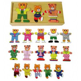 PUZZLE FAMILLE OURS A HABILLER