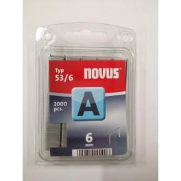 AGRAFES RONDES POUR CLOUEUR NOVUS J-08XX 53/6 BOITE DE 2000
