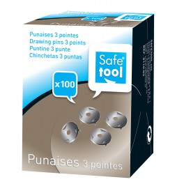 PUNAISES 3 POINTES BOITE DE 100
