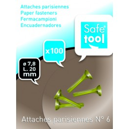 ATTACHES PARISIENNES 20MM N°6 BOITE DE 100