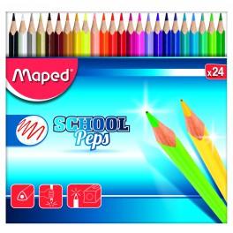 MAPED SCHOOL PEP'S ÉTUI 24 COULEURS ASSORTIS