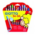 GIOTTO BE-BÈ - ETUI-COFFRET 12 MAXI CRAYONS + 1 TAILLE-CRAYON (PEFC)