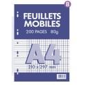 FEUILLETS MOBILES 210X297 80G SEYES BLANC 200P