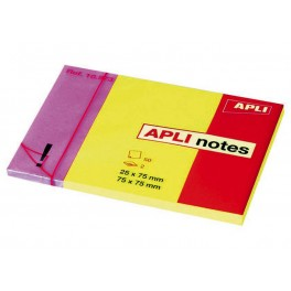 BLOC 50 APLI-NOTES 25X75 +75X75MM
