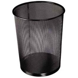 corbeille a papier metal noir 18 litres. Black Bedroom Furniture Sets. Home Design Ideas