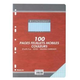 FEUILLETS MOBILES 21X29.7 SEYES 80G BLEU 100 P