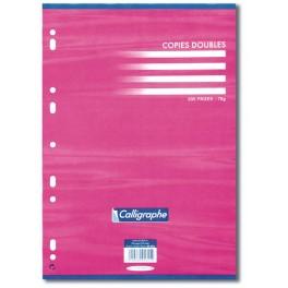 COPIES DOUBLES 21X29,7 5X5 PERF BLANC 70GR 200P