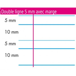 CAHIER MATERNELLE 17X14,7 ITALIENNE 24P DL 5MM 70GR
