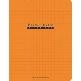 CAHIER 17X22 96P POLYPRO ORANGE 90G SEYES