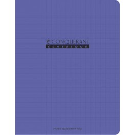 CAHIER 17X22 96P POLYPRO VIOLET 90G SEYES