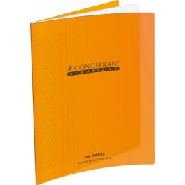 CAHIER 24X32 96P POLYPRO ORANGE 90G SEYES