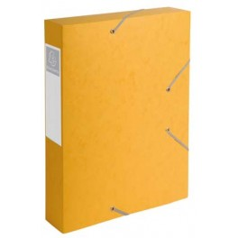 BOITE 24x32 CARTE + ETIQ DOS 50 jaune
