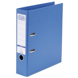 CLASSEUR A LEVIER PVC BLEU CLAIR DOS 80 MM