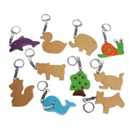 LOT 10 PORTE CLES EN MEDIUM ASSORTIMENT ANIMAUX
