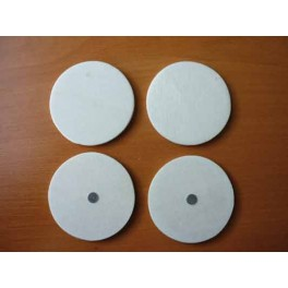 ROND BOIS NATUREL MAGNET A DECORER LOT DE 4