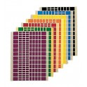 GOMMETTES RECTANGLES 18 FEUILLES - 2592 GOMMETTES