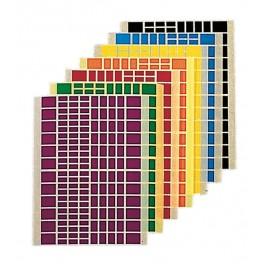 GOMMETTES RECTANGLES 16 FEUILLES - 2304 GOMMETTES