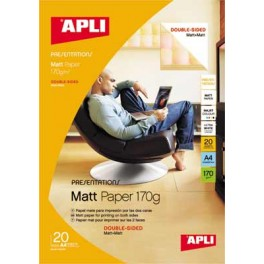 BTE 20 FS PAPIER PHOTO 170G A4 MAT RECTO-VERSO