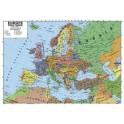 EUROPE CARTE MURALE RECTO VERSO 70x102 CM