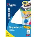 ÉTIQUETTES BLANCHES ENLEVABLES 38,5X65 mm - POCHETTE A5 DE 100
