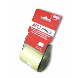 ROULEAU DISTRIBUTEUR NOTES JAUNE PASTEL10MX60MM