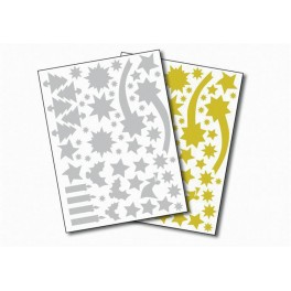 GOMMETTES NOEL 2 FS OR + 2 FS ARGENT - 244 GOMMETTES
