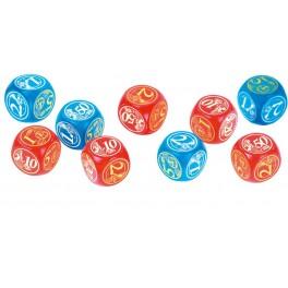 DES EUROS en bois Ø 20mm lot de 10 rouge et bleu