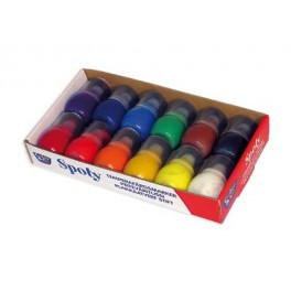 SPOTY APPLICATEURS GOUACHE 30ml Lot de 12 assortis