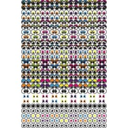 GOMMETTES YEUX 594 GOMMETTES ASSORTIES 2 TAILLES