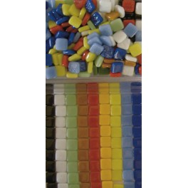 MOSAIQUE PATE DE VERRE 12X12MM 500G COULEURS ASSORTIES