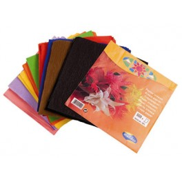 PQT 500 FS CREPON 16X16CM COULEURS ASSORTIES