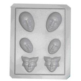 MOULE THERMOFORME Mini masques 6 assortis