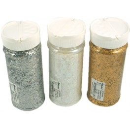 PAILLETTES MULTIFORMES POT 200GR OR HOLOGRAPHIQUE