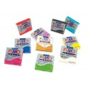PATE A CUIRE FIMO SOFT LOT DE 10 PAINS 57GR ASS