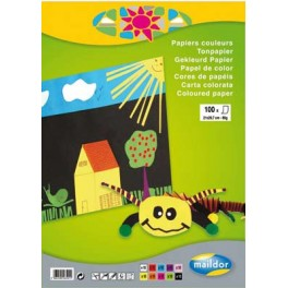 BLOC PAPIER A4 80 GR 100 FS 10 COULEURS ASSORTIES