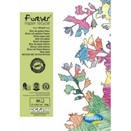 BLOC 30 FS CARTA FOREVER RECYCLE 130G BLANC A4